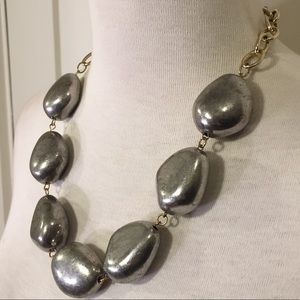 Jewelry - Large mixed metal chain statement necklace